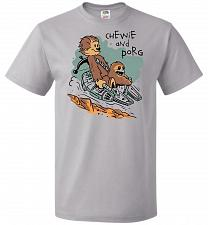Buy Chewie and Porg Unisex T-Shirt Pop Culture Graphic Tee (XL/Silver) Humor Funny Nerdy
