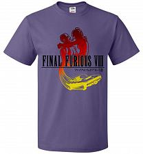 Buy Final Furious 8 Adult Unisex T-Shirt Pop Culture Graphic Tee (M/Purple) Humor Funny N