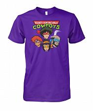 Buy Bounty Hunting Ninja Cowboys Unisex T-Shirt Pop Culture Graphic Tee (S/Purple) Humor