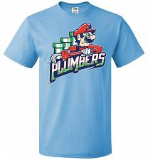 Buy Plumbers Unisex T-Shirt Pop Culture Graphic Tee (L/Aquatic Blue) Humor Funny Nerdy Ge