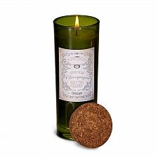 Buy :10628U - Champagne Scented Soy Blend Wax Candle Highball Green Glass