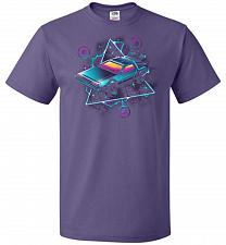 Buy Retro Wave Time Machine Unisex T-Shirt Pop Culture Graphic Tee (M/Purple) Humor Funny