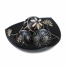 Buy *17059U - Artisan Carved Tri-Point Black Accent Bowl Decorative Balls