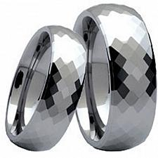 Buy coi Jewelry Black Tungsten Carbide Faceted Wedding Band Ring