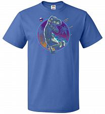 Buy Rad Velociraptor Unisex T-Shirt Pop Culture Graphic Tee (4XL/Royal) Humor Funny Nerdy