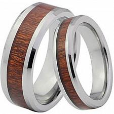 Buy coi Jewelry Tungsten Carbide Wedding Band Ring With Wood