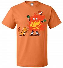 Buy Charred Unisex T-Shirt Pop Culture Graphic Tee (L/Tennessee Orange) Humor Funny Nerdy