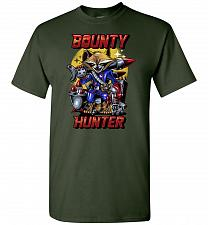 Buy Bounty Hunter Rocket Raccoon Unisex T-Shirt Pop Culture Graphic Tee (2XL/Forest Green