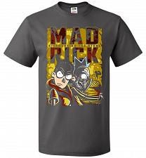 Buy Mad Rick Unisex T-Shirt Pop Culture Graphic Tee (2XL/Charcoal Grey) Humor Funny Nerdy