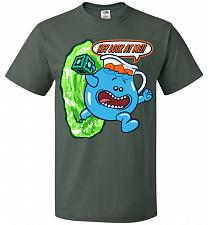 Buy Meseeks Man Unisex T-Shirt Pop Culture Graphic Tee (2XL/Forest Green) Humor Funny Ner