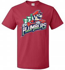Buy Plumbers Unisex T-Shirt Pop Culture Graphic Tee (XL/True Red) Humor Funny Nerdy Geeky