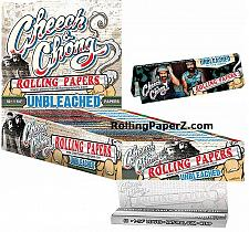 Buy FULL BOX/25 Packs Cheech & Chong UNBLEACHED HEMP 1 1/4 Cigarette Rolling Papers