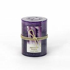 Buy :10674U - Passion Fruit Scented Purple Tri-color Paraffin Wax 3X4 Pillar Candle