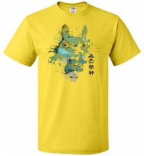 Buy Watercolor Totoro Unisex T-Shirt Pop Culture Graphic Tee (6XL/Yellow) Humor Funny Ner