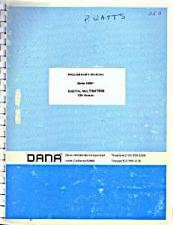 Buy Dana Series 4400 Digital Multimeters Preliminary Manual