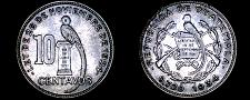 Buy 1934(L) Guatemalan 10 Centavo World Silver Coin - Guatemala