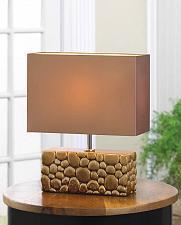 Buy *15530U - River Rock Ceramic Rectangle Base Table Lamp Neutral Shade