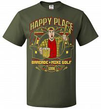 Buy Gilmore's Happy Place Adult Unisex T-Shirt Pop Culture Graphic Tee (2XL/Military Gree