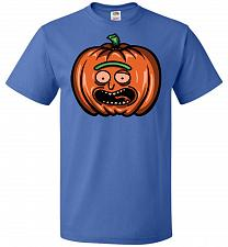Buy Halloween Pumpkin Rick Adult Unisex T-Shirt Pop Culture Graphic Tee (L/Royal) Humor F