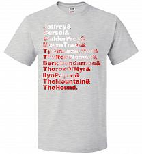 Buy Game Of Thrones Inspired Arya's List Adult Unisex T-Shirt Pop Culture Graphic Tee (XL