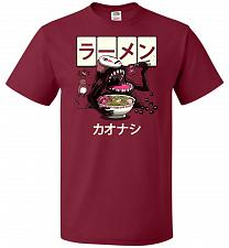 Buy Ramen Kaonashi Unisex T-Shirt Pop Culture Graphic Tee (XL/Cardinal) Humor Funny Nerdy