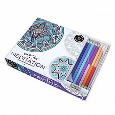Buy :10954U - Meditation 96 Page Adult Coloring Book w/8 Colored Pencils