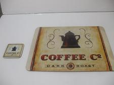 Buy Corkboard Placemat And Coaster 15 Inches X 13 Inches Coffee Co Dark Roast