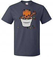 Buy A Pot Full Of Candies Unisex T-Shirt Pop Culture Graphic Tee (XL/J Navy) Humor Funny