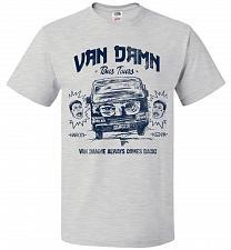Buy Van Damn Tour Bus Adult Unisex T-Shirt Pop Culture Graphic Tee (S/Ash) Humor Funny Ne