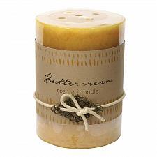 Buy :10926U - 2ct Buttercream Scented Tri-color Cream Pillar Candle 3x4 Charm