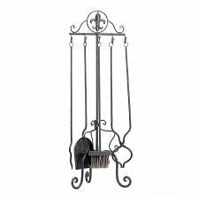 Buy *16009U - Fleur-De-Lis Iron Fireplace Tool Set