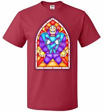 Buy Apocolypse Stained Glass Unisex T-Shirt Pop Culture Graphic Tee (L/True Red) Humor Fu