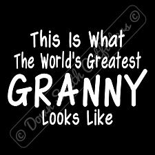 Buy Worlds Greatest Granny T Shirt Funny Birthday Mothers Day Gift (16 Tee Colors)