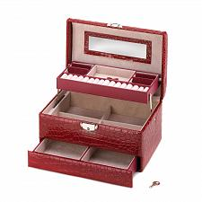 Buy *15417U - Red Deluxe Large Lined Jewelry Case