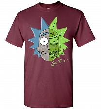 Buy Get Toxic Rick and Morty Unisex T-Shirt Pop Culture Graphic Tee (S/Maroon) Humor Funn