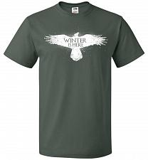 Buy Winter Is Here Unisex T-Shirt Pop Culture Graphic Tee (4XL/Forest Green) Humor Funny