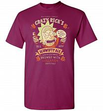 Buy Crazy Rick's Schwifty Ale Unisex T-Shirt Pop Culture Graphic Tee (M/Berry) Humor Funn