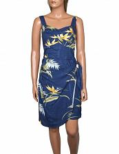 Buy Ladies Navy Short Sarong Wrap Dress Adjustable Straps Bamboo #PF-140-BP LARGE
