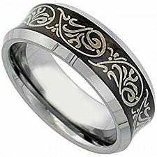 Buy coi Jewelry Titanium Celtic Ring With Black Plating- JT1154(Size:US10)