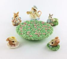 Buy Priscilla Hillman My Blushing Bunnies Enesco 8 Pc Miniature Tea Set 1998