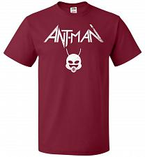 Buy Antman Anthrax Parody Unisex T-Shirt Pop Culture Graphic Tee (M/Cardinal) Humor Funny