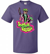 Buy Boba Fresh Unisex T-Shirt Pop Culture Graphic Tee (S/Purple) Humor Funny Nerdy Geeky
