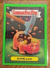 Buy Garbage Pail Kids Bns1 Green Border -Hank Bank- 21a Sticker 2012 GPK