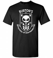 Buy Burton's School Of Nightmares Unisex T-Shirt Pop Culture Graphic Tee (S/Black) Humor