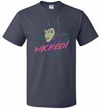 Buy Wicked! Unisex T-Shirt Pop Culture Graphic Tee (L/J Navy) Humor Funny Nerdy Geeky Shi