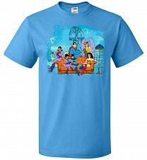 Buy Super Friends Unisex T-Shirt Pop Culture Graphic Tee (L/Pacific Blue) Humor Funny Ner