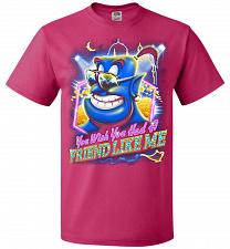 Buy Friend Like Me Adult Unisex T-Shirt Pop Culture Graphic Tee (2XL/Cyber Pink) Humor Fu