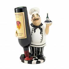 Buy *17733U - Italian Chef Tabletop Single Wine Bottle Holder