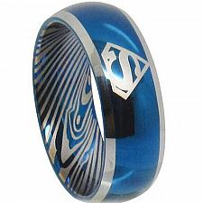Buy coi Jewelry Tungsten Carbide Superman Damascus Ring