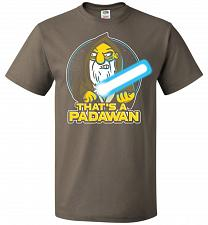 Buy That's A Padawan Unisex T-Shirt Pop Culture Graphic Tee (M/Safari) Humor Funny Nerdy